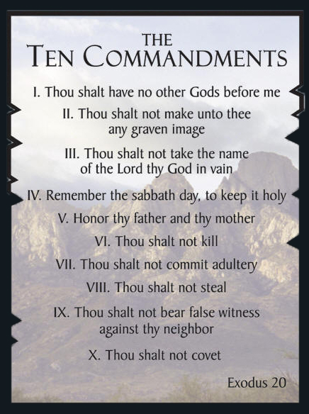 photo regarding 10 Commandments Printable identified as 10 Commandments Listing